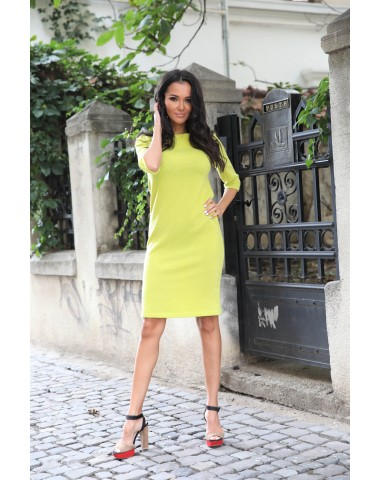 Lovely yellow knitted maternity dress