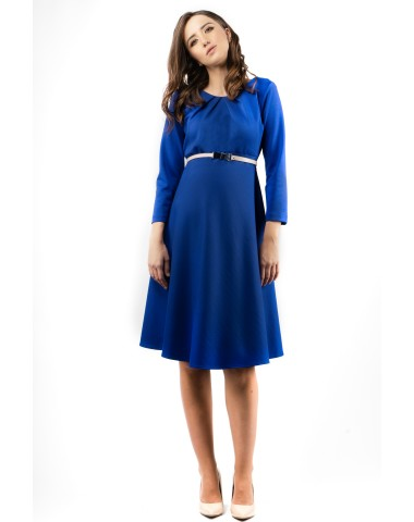 Royal blue midi maternity dress
