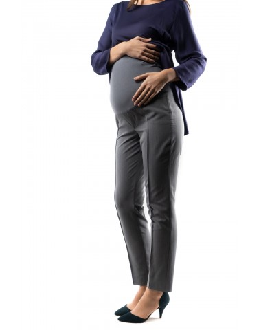 Gray office pregnancy trousers