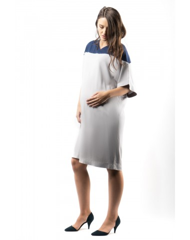 Simple straight maternity dress