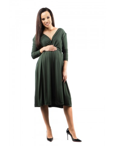 Splendid dark green maternity cocktail dress