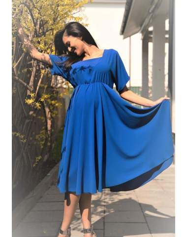Fabulous royal blue cocktail maternity dress