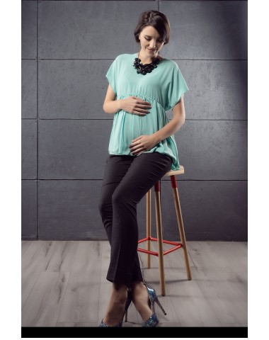Formal pregnancy trousers with an elegant but discreet pattern